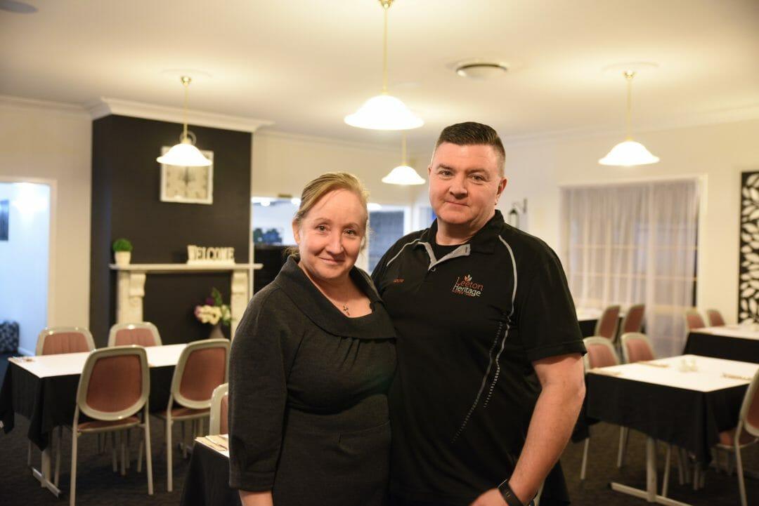 Mia and Wayne Bond, Leeton Heritage Motor Inn.