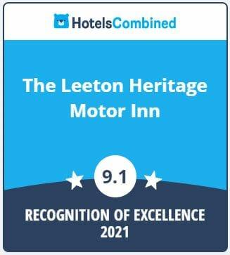 HotelsCombined Leeton Heritage Motor Inn 9.1 rating